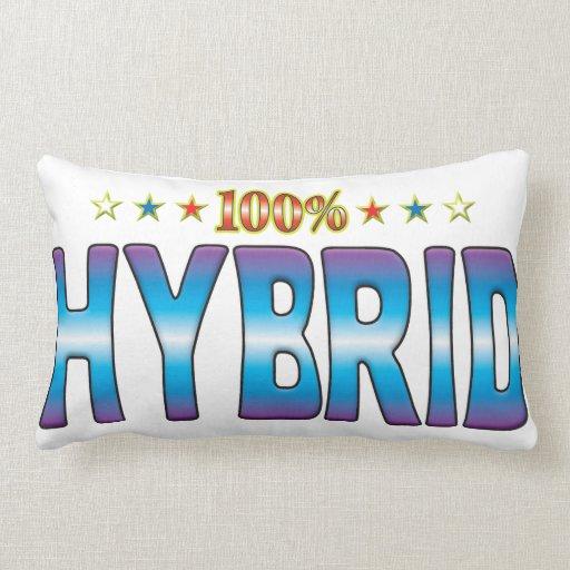Hybrid Star Tag v2 Throw Pillows