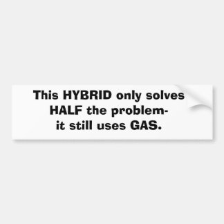 Hybrid Sticker Bumper Sticker