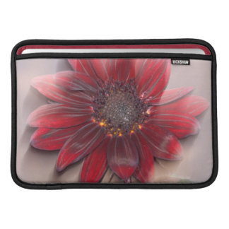 Hybrid sunflower blowing in the wind sleeves for MacBook air