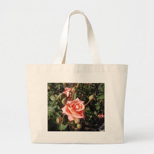 Hybrid Tea Rose Canvas Bags