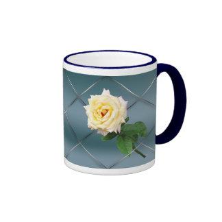 Hybrid Tea Rose - Blue Background Customizable Mug