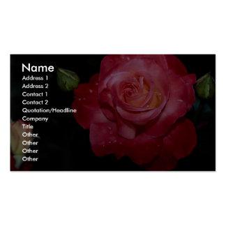Hybrid Tea Rose 'Brigadoon' Roses Business Card Templates