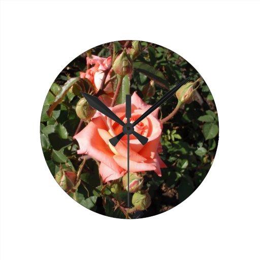 Hybrid Tea Rose Wall Clock