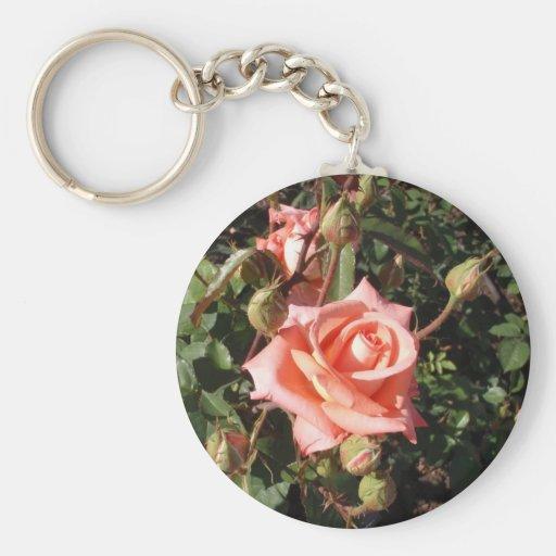 Hybrid Tea Rose Keychain