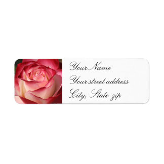 Hybrid Tea Rose Return Address Label