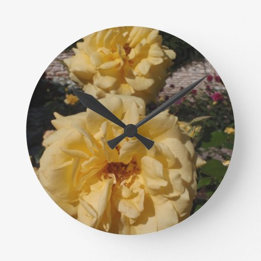 Hybrid Tea Rose Landora Round Wallclock