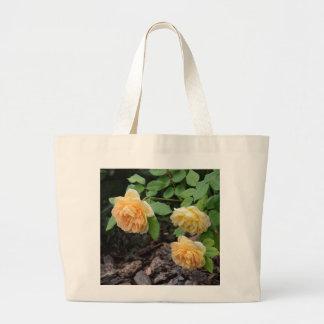 Hybrid Yellow Roses Large Tote Bag