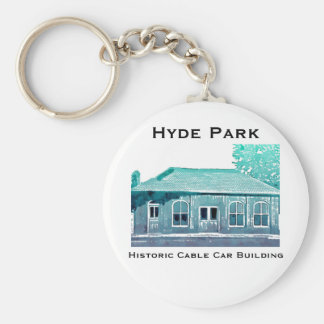 Hyde Park's Historic Cable Car Building Keychain