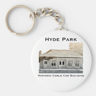 Hyde Park's Historic Cable Car Building Keychain