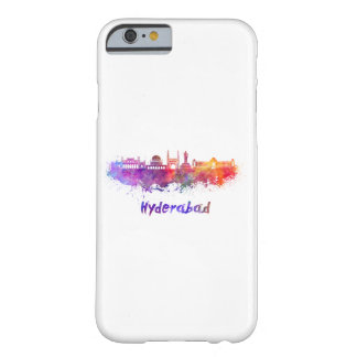 Hyderabad skyline in watercolor barely there iPhone 6 case
