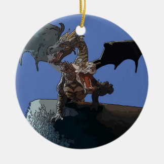 Hydra Dragon Ceramic Ornament