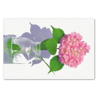 Hydrangea and Mason jar Tissue Paper