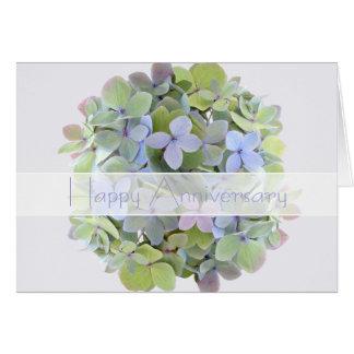 Hydrangea Anniversary Personalized Card