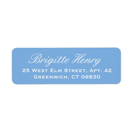 Hydrangea Blue and White  | Wedding Return Address Label