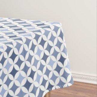 Hydrangea Blue Geometric Hypocycloid Pattern Tablecloth