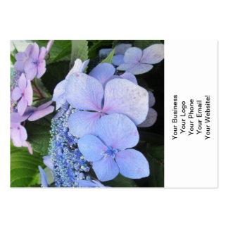 Hydrangea Blue Purple Pretty Flower Business Card Templates
