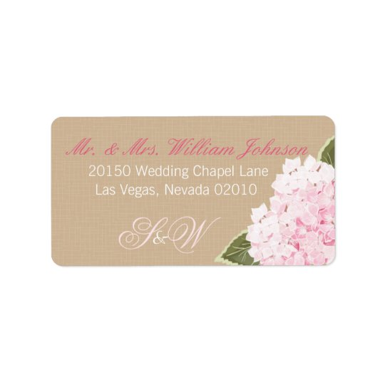 Hydrangea Bouquet Wedding Label Address Label