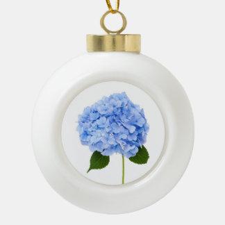 Hydrangea Ceramic Ball Christmas Ornament