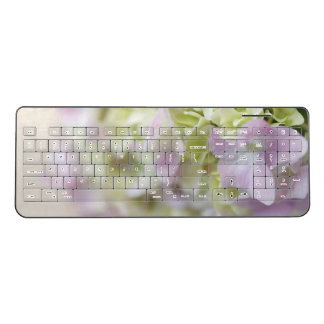 Hydrangea closeup wireless keyboard