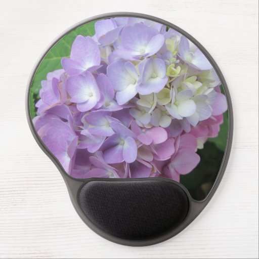 Hydrangea Colorful Flower Gel Mouse Mats
