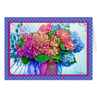 Hydrangea colors & borders III Card