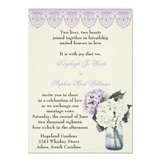 Hydrangea Dreams 13 Cm X 18 Cm Invitation Card