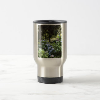 Hydrangea Floral Trees Nature Photography Travel Mug