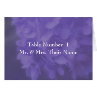 Hydrangea Flower Wedding Table Place Card