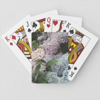Hydrangea Flowers Blue Pink Classic Playing Cards