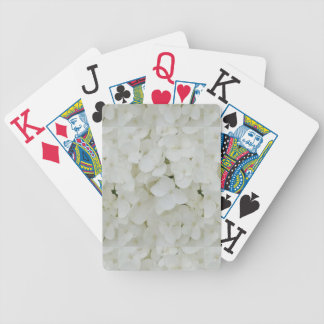 Hydrangea Flowers Floral White Elegant Blossom Bicycle Playing Cards
