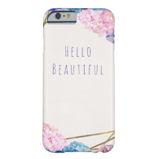 Hydrangea Flowers & Gold Spring Floral Chic Barely There iPhone 6 Case