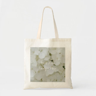 Hydrangea Flowers White Blossom Floral Bridal Chic Tote Bag