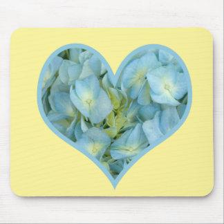 Hydrangea Heart Mouse Pad