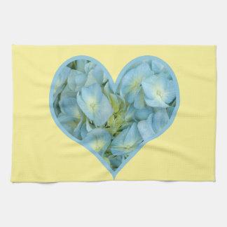 Hydrangea Heart Hand Towels