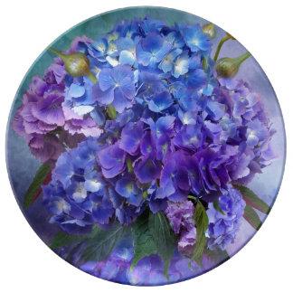 Hydrangea In Hydrangea Vase Decorative Plate Porcelain Plate