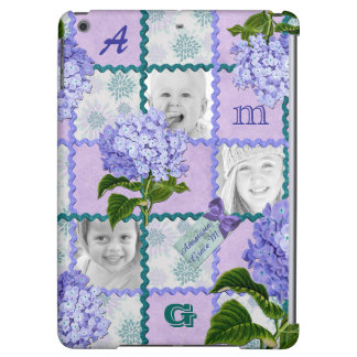 Hydrangea Instagram Photo Quilt Frame Purple Teal