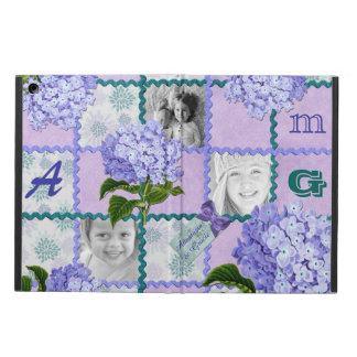 Hydrangea Instagram Photo Quilt Frame Purple Teal iPad Air Covers