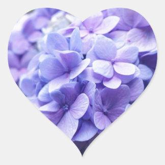 Hydrangea Love Heart Sticker
