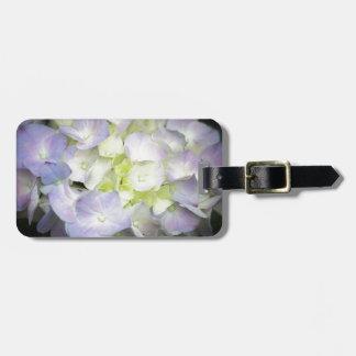 hydrangea luggage tag