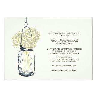 Hydrangea & Mason Jar Bridal Shower 13 Cm X 18 Cm Invitation Card