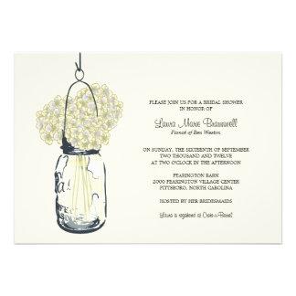 Hydrangea & Mason Jar Bridal Shower Announcements