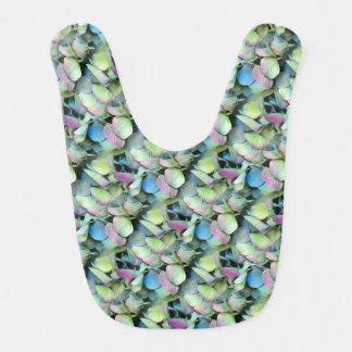 HYDRANGEA  Multi-color petals --- ECHO PRINT - Baby Bib