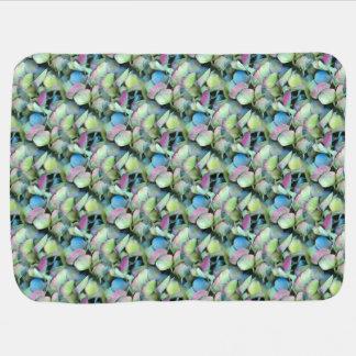 HYDRANGEA  Multi-color petals --- ECHO PRINT - Buggy Blanket