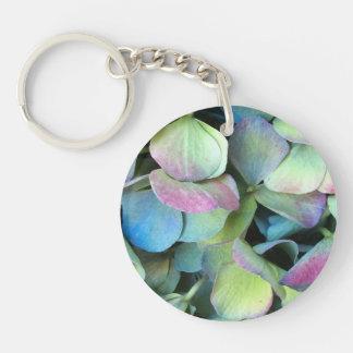 HYDRANGEA  Multi-color petals --- Key Ring