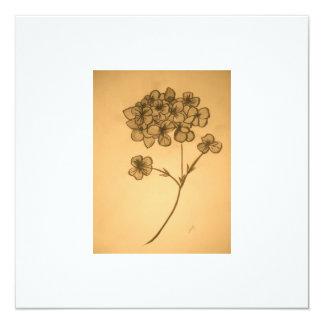 Hydrangea muted Invitation/ Greeting card