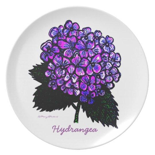 Hydrangea  plate  copyrightMaryLParker17