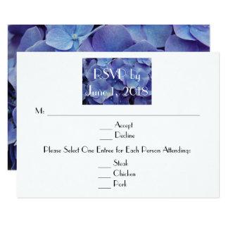 Hydrangea Purple Wedding RSVP Card
