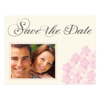 Hydrangea Save the Date Postcard