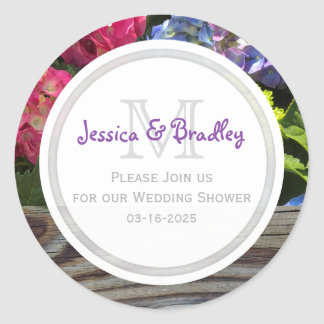 Hydrangea Save The Date Stickers