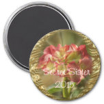Hydrangea Secret Sister Magnet- or any occasion 7.5 Cm Round Magnet